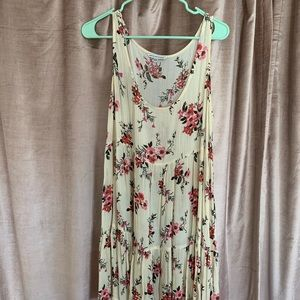American Eagle Floral Tiered Babydoll Dress (M)